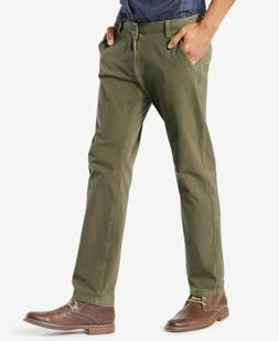 $190 DOCKERS Men's SLIM FIT GREEN STRETCH KHAKI CHINO LOGO J