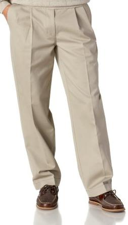 IZOD Men's Big and Tall Pleated Extended Twill Pant, Khaki,