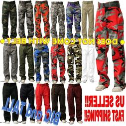 BIG AND TALL MEN MILITARY ARMY CAMOUFLAGE CAMO CARGO PANT CO