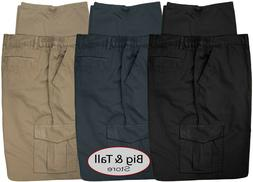 Big & Tall Men's Casual Cargo Pants with Side Elastic by Ful