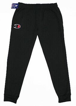 CHAMPION Big-Logo Men's Cuffed Black Pocket Sweatpants XL X-