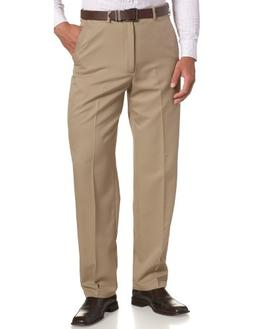 Haggar Men's Big-Tall Cool Gabardine Plain Front Pant, Briti