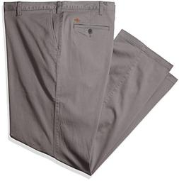 Dockers Men's Big and Tall Washed Khaki Flat Front Pant, Bur