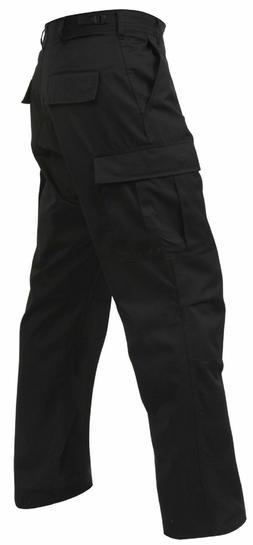 BLACK MENS ROTHCO 5923 BDU PANTS 100%COTTON RIP-STOP MENS CA