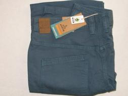 prAna Bronson Indigo Organic Cotton Canvas Pants Mens 33W x