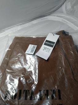 INFLATION Brown Mens Wrinkle-free Slim-Tapered Stretch Casua
