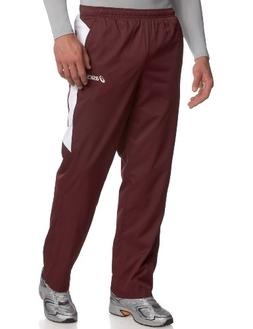 ASICS Men's Caldera Warm Up Running Pants,Maroon/White,X-Sma
