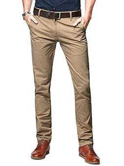casual slim tapered flat front