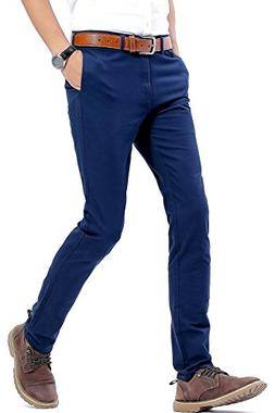 INFLATION Men's Casual Stretch Pants Comfort Tapered Pants
