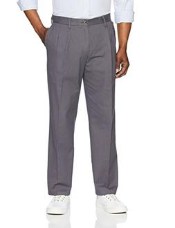 classic fit wrinkle resistant pleated