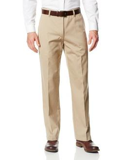 Lee Men's Comfort Waist Custom Relaxed Fit Flat Front Pant,