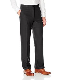 Haggar Men's Cool 18 Pro Classic Fit Flat Front Expandable W