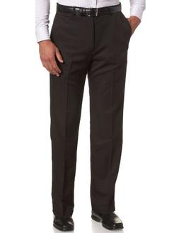 Haggar Men's Cool 18 Hidden Comfort Waist Plain Front Pant,H
