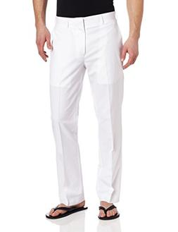 Cubavera Men's Linen Cotton Herringbone Textured Pant, Brigh