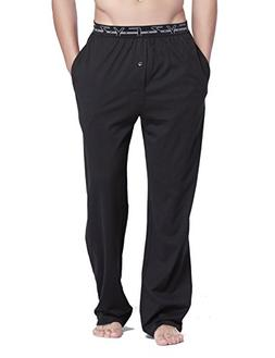 CYZ Men's 100% Cotton Jersey Knit Pajama Sleep/Lounge Pants-