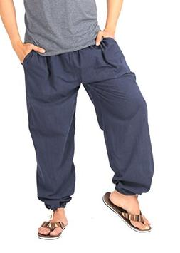 CandyHusky Mens Cotton Loose Joggers Casual Lounge Pajama Gy
