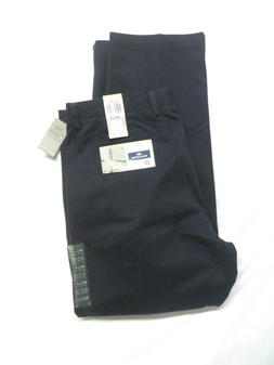 Dockers D4 Relaxed Fit Navy True Chino Pleated Dress Pants M
