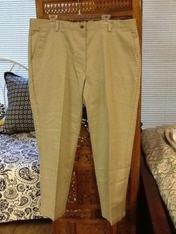 DOCKERS Men's Basic Khaki Pants Flat Front Relaxed No Wrinkl
