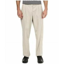 Dockers Men's Best Pressed Pleated Stretch Khaki Relaxed Fit