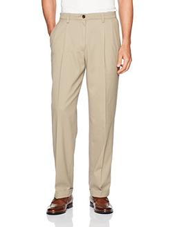 Dockers Men's Easy Khaki Relaxed Fit Pants D4-Pleated, Timbe