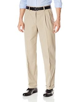 Dockers Men's Easy Khaki Relaxed-Fit Pleated Pant, British K