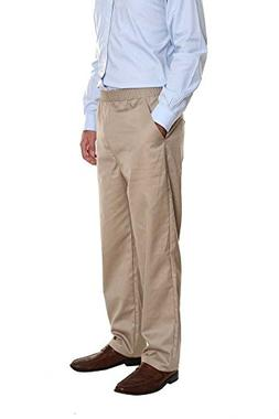 Pembrook Men's Elastic Waist Casual Pants Twill Pants with Z