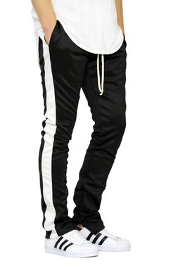 EPTM MEN'S TECHNO TRACK PANTS ANKLE ZIPPER PANTS 7 COLORS XS