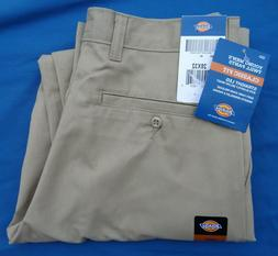Dickies Men's Young Adult Sized Flat Front Pant, Khaki, 36X3