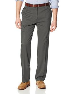 Van Heusen Men's Flat Front Ultimate Traveler Pant, Dark Cha