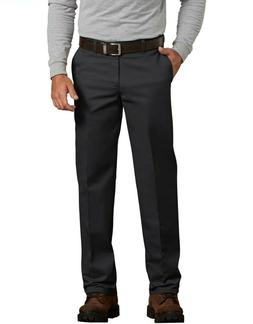 Genuine Dickies Men's Flat Front Comfort Waist Flex Pants Bl
