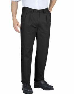 Genuine Dickies Men's Pleated Front Comfort Waist Pants Blac