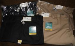 Haggar H26 Men's Classic Fit Pants Big & Tall 56 x 32 Khaki