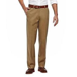 Haggar H26 Men's Classic Fit Stretch Trouser Pants - Khaki -