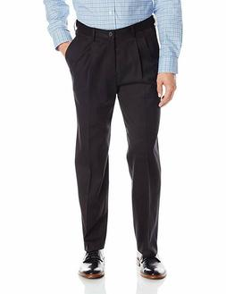Haggar Men's Premium No Iron Classic Fit Expandable Waist Pl