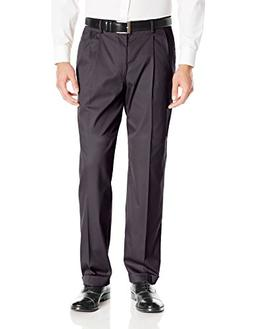 Dockers Men's Iron Free Khaki D4 Relaxed Fit Pleated Pant, H