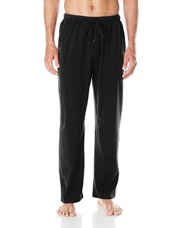 Fruit of the Loom Men's  Jersey Knit Sleep Pant, Black, 4X/B