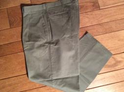 Lee Khaki Relaxed Fit Flat Front Pants Taupe Chinos New Men'