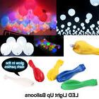 50-200 Pack LED Balloons Light Up Balloons PARTY Decoration
