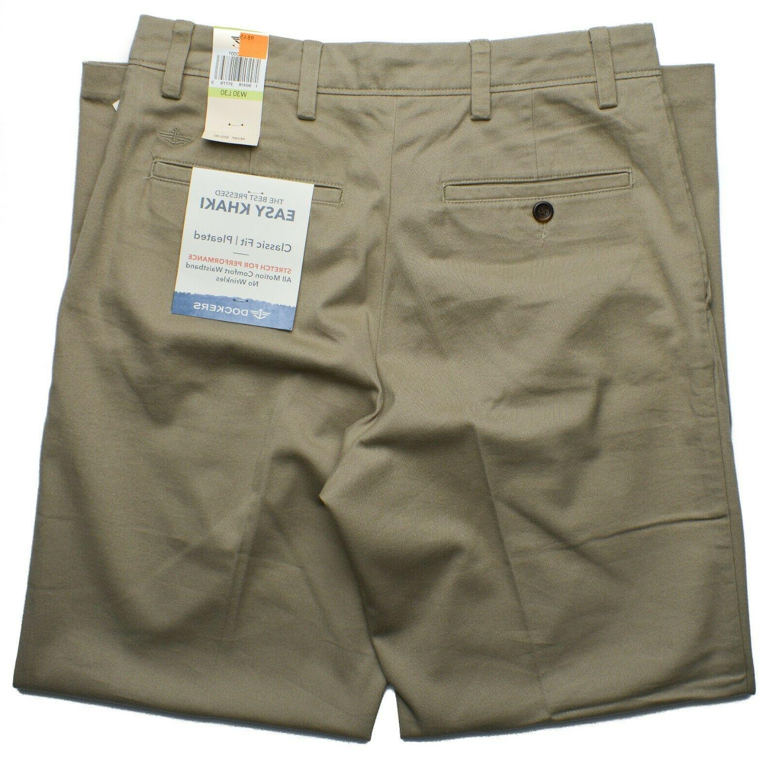 Dockers Men's Pleated Khaki