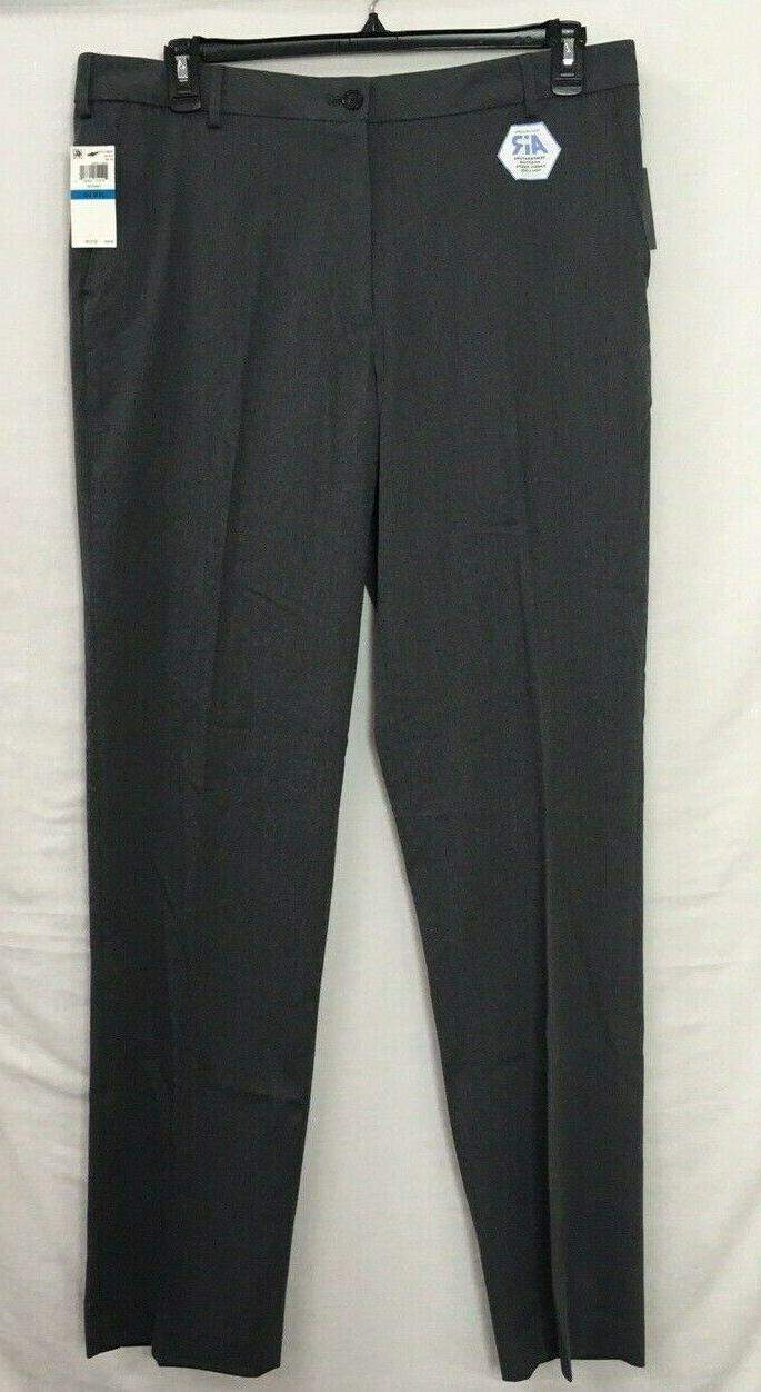 Van Heusen Chino Pants X 34 Gray Stretch Gripper Flex