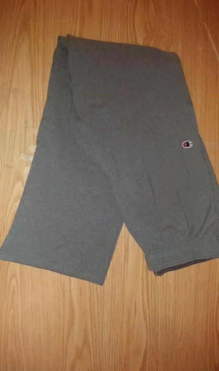Champion Authentic Men's Open Bottom Gray Size Large Jersey
