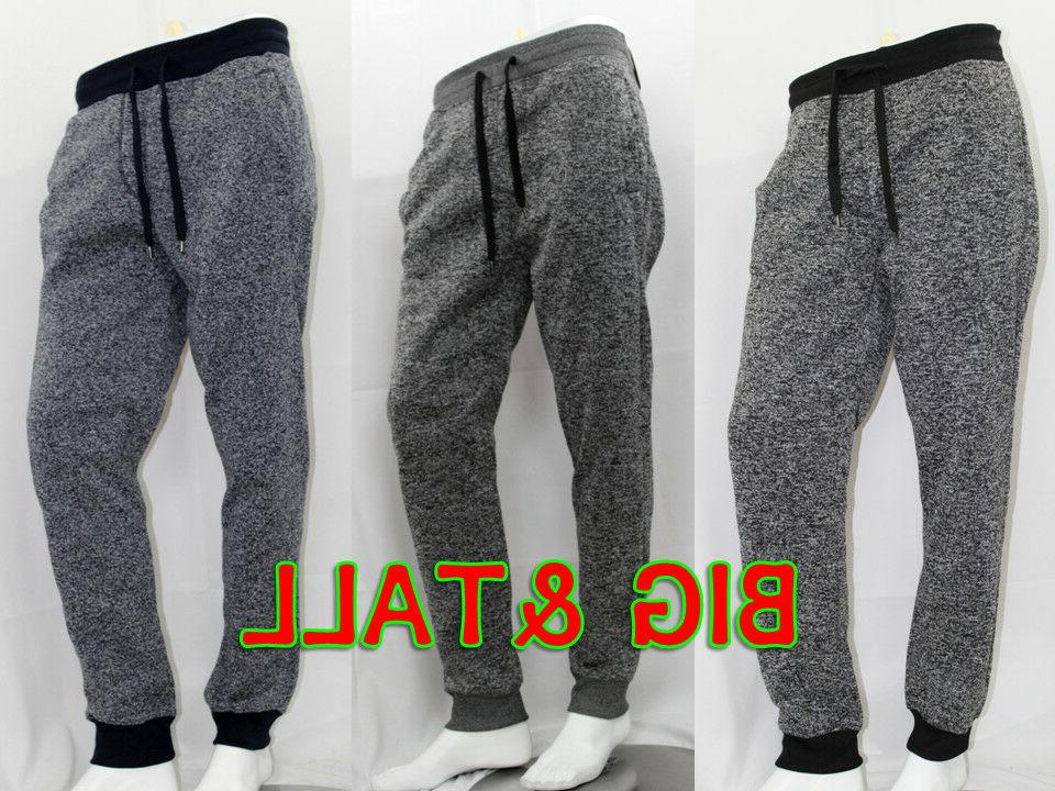 big and tall men marled fleece jogger