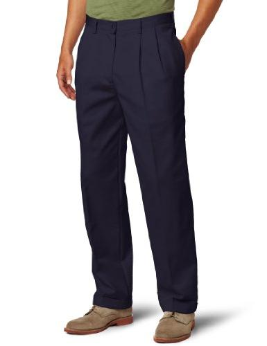 big tall pleated extended twill