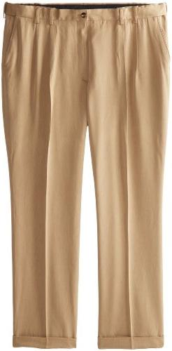 IZOD Men's Big and Tall Ultimate Traveller Pant, Khaki, 46W
