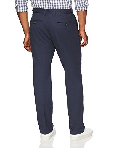 Amazon Essentials Men's Wrinkle-Resistant Flat-Front Chino Pant, Navy, 36W x 32L