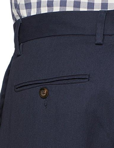 Amazon Classic-Fit Wrinkle-Resistant Flat-Front Chino Pant, Navy, x 32L