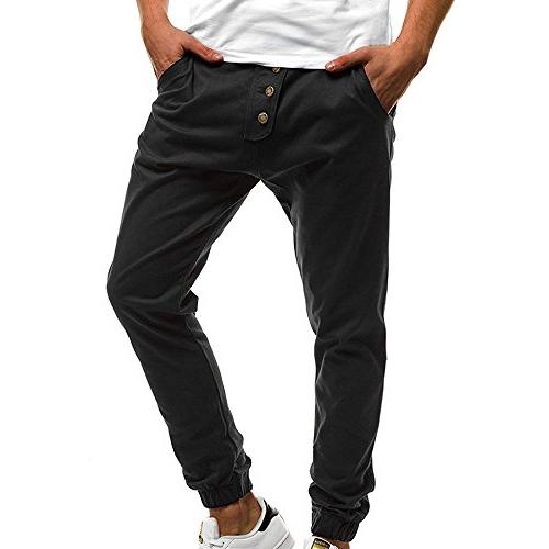 colmkley mens casual gym trainning button jogger