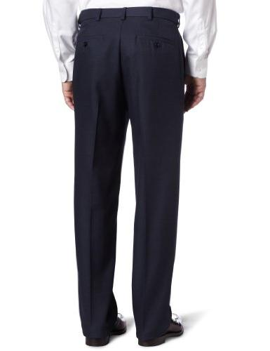 Haggar Hidden Waist Plain Front Pant,Heather