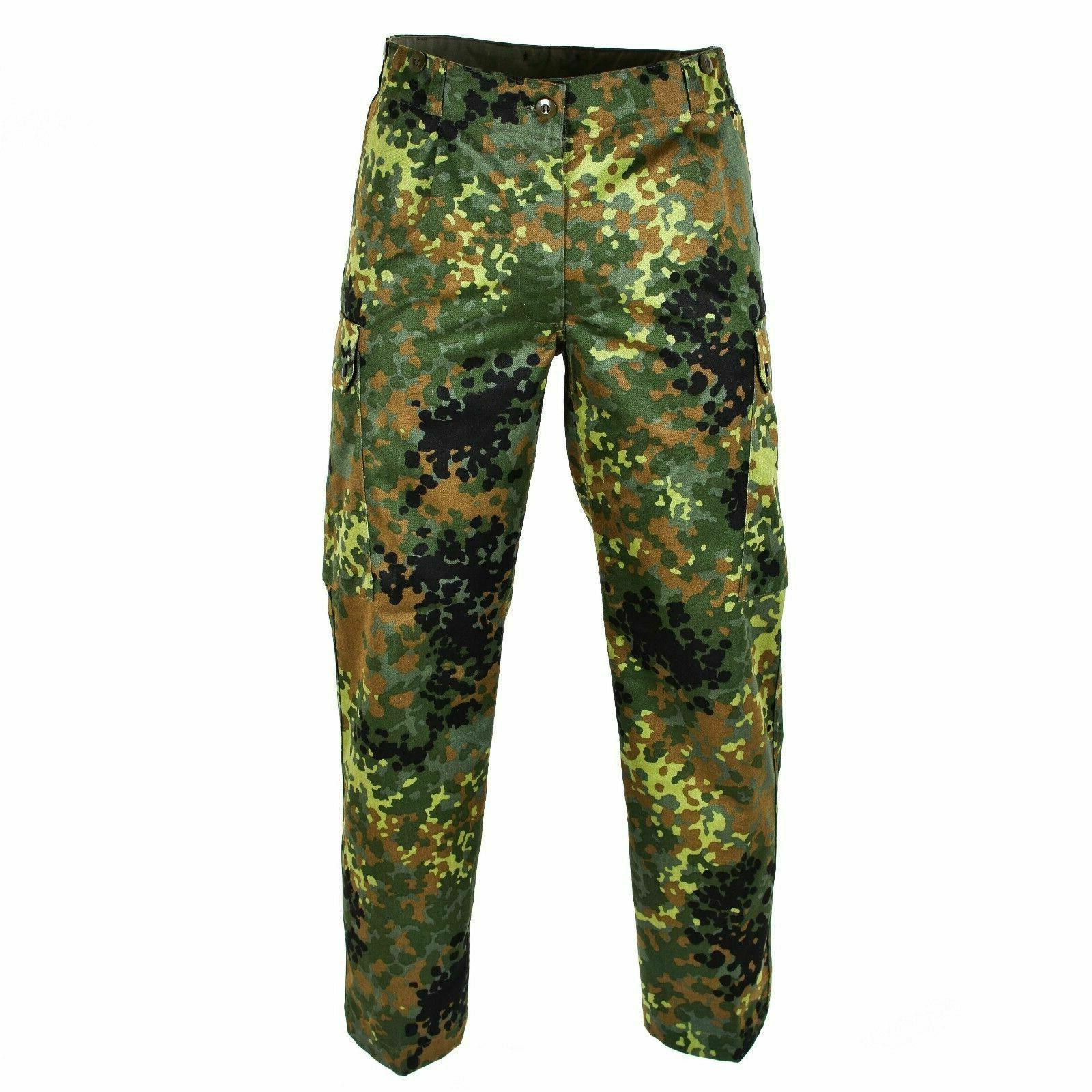 GERMAN CAMOUFLAGE MILITARY BDU POCKET FATIGUE TROUSERS