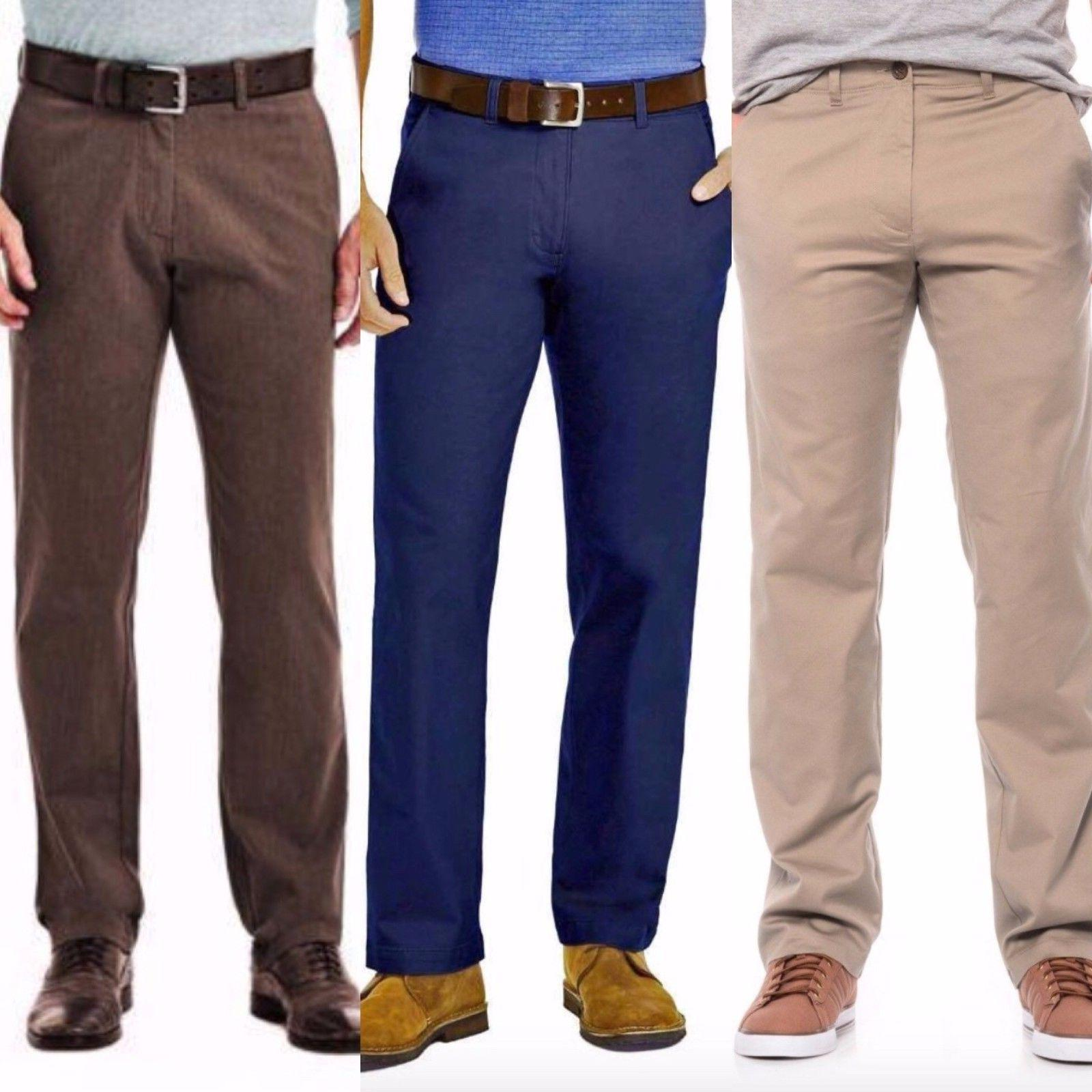 Haggar in Motion Men's Straight Fit Chino Pants w/ Super Fle